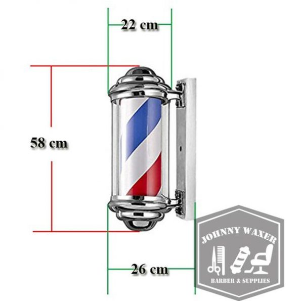 Đèn xoay Barber Pole Stripes 56cm-3