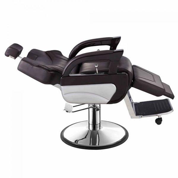 Ghế cắt tóc nam Vina Chairs có thể ngả tùy ý với cơ chế Pug hỗ trợ người dùng.