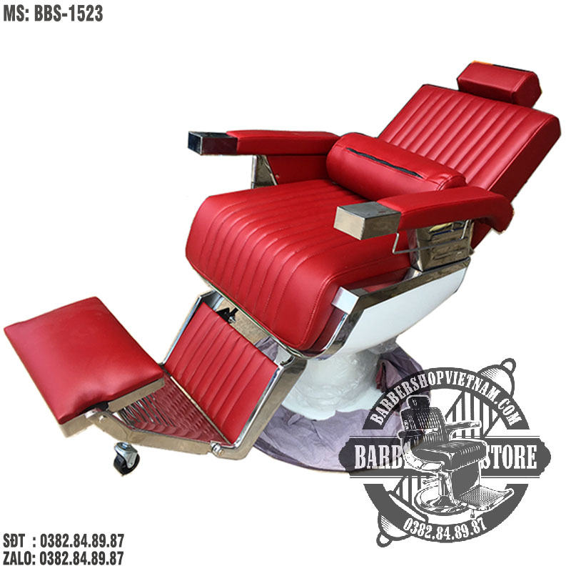 Ghế cắt tóc tóc nam cao cấp BBS-1523 màu đỏ