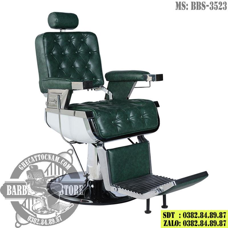Ghế hớt tóc nam BBS-3523 phiên bản màu xanh