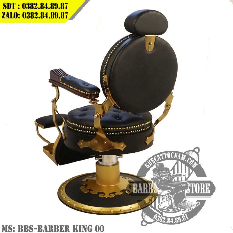 Mặt sau của ghế cắt tóc nam BBS-King Barber chair 00