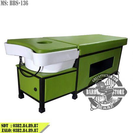 Giường gội đầu 2 in 1 BBS-136 phiên bản xanh lá