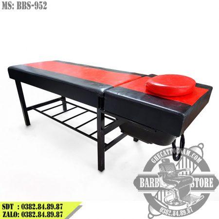 Giường gội BBS-952 đỏ đen