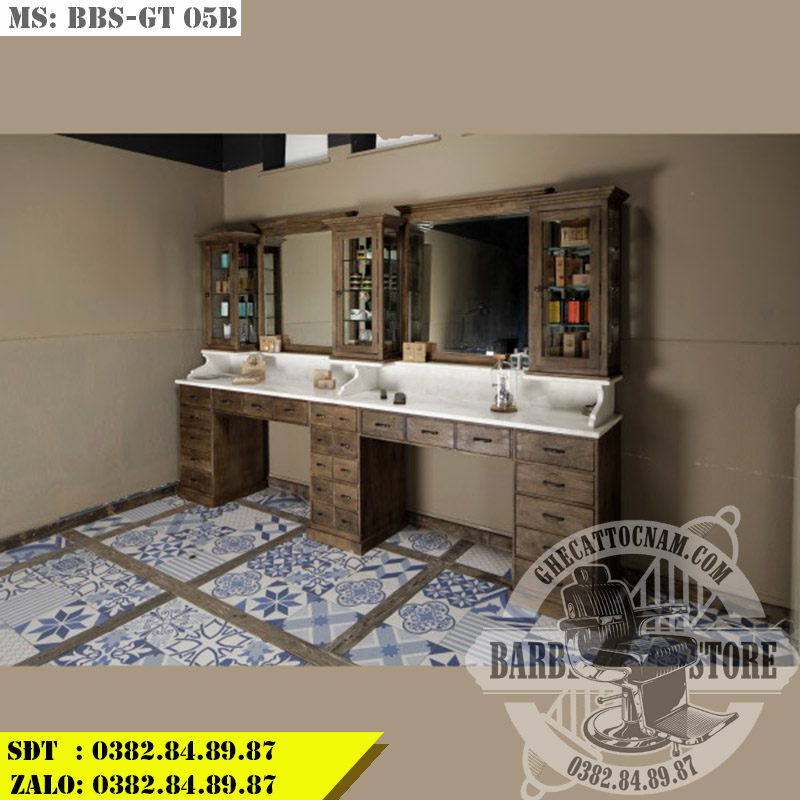 Gương tủ cắt tóc Barber BBS-GT 05B