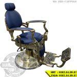 Ghế hớt tóc cao cấp BBS-Cappolo phiên bản màu đồng, da xanh