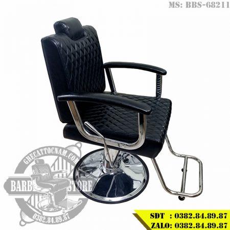 Ghế cắt tóc nam giá rẻ BBS-68211 sử dụng tay gạt ngả