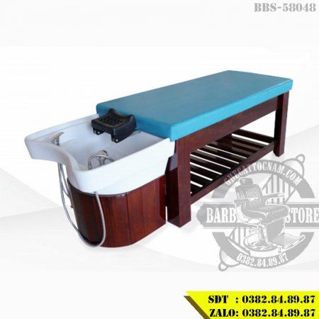 Giường gội đầu khung gỗ 2in1 BBS-58048 cao cấp